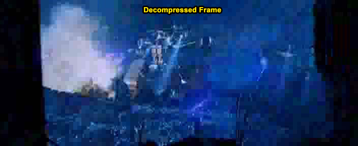 Decompressed frame